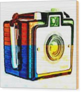 Box Camera Pop Art 3 Wood Print
