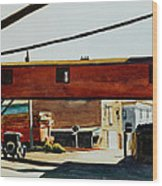 Box Factory Wood Print by Edward Hopper