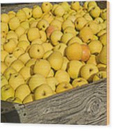 Box Of Golden Apples Wood Print