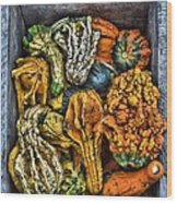 Box Of Gourds Wood Print