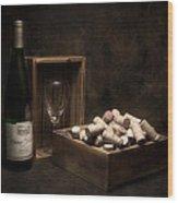 Box Of Wine Corks Still Life Wood Print