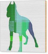 Boxer 1 Wood Print by Naxart Studio