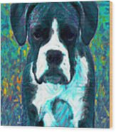Boxer 20130126v4 Wood Print by Wingsdomain Art and Photography