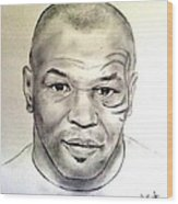 Boxer And Actor Mike Tyson Wood Print
