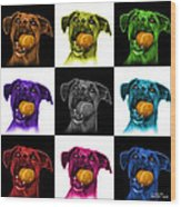 Boxer Mix Dog Art - 8173 - V1 - M Wood Print