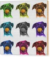 Boxer Mix Dog Art - 8173 - Wb - M Wood Print