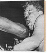 Boxer Near His Limit Wood Print