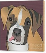 Boxer Puppy Pet Portrait  Wood Print