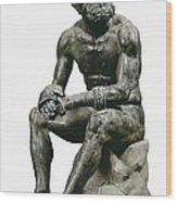 Boxer Seatted. 1st C. Hellenistic Art Wood Print