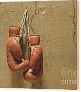 Boxing Gloves Wood Print by Bernard Jaubert