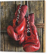Boxing Gloves - Now Retired Wood Print