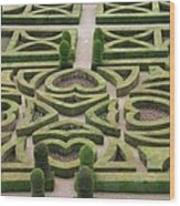 Boxwood Garden - Chateau Villandry Wood Print