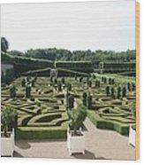 Boxwood Garden Design - Chateau Villandry Wood Print