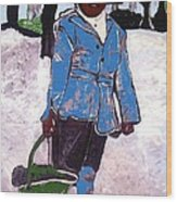 Boy Carrying Coal Circa 1901 Wood Print