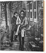 Boy In Heels Wood Print