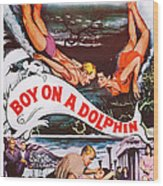 Boy On A Dolphin, Us Poster, Center Wood Print