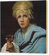 Boy With A Turban Wood Print
