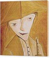 Boy With Flute 413-08-13 Marucii Wood Print