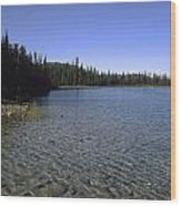 Boya Lake Wood Print