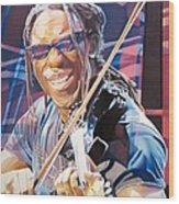 Boyd Tinsley And 2007 Lights Wood Print by Joshua Morton