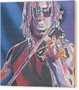 Boyd Tinsley Colorful Full Band Series Wood Print