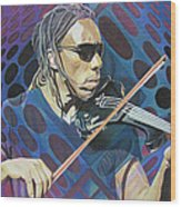 Boyd Tinsley Pop-op Series Wood Print by Joshua Morton