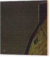 Boylan Creek At Night Wood Print