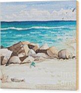 Boynton Beach Inlet Watercolor Wood Print