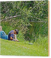 Boys Fishing In Pipestone National Monument-minnesota Wood Print