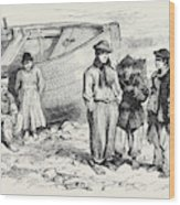 Boys Of The Claddagh Galway 1873 Wood Print
