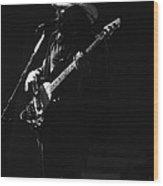 Boz On The Bass Guitar 1977 Wood Print