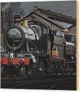 Br Steam Train And Gwr Pannier Tank Wood Print