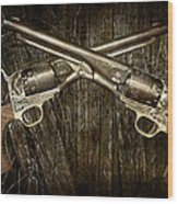 Brace Of Colt Navy Revolvers Wood Print