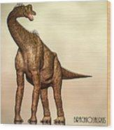 Brachiosaurus Dinosaur Wood Print