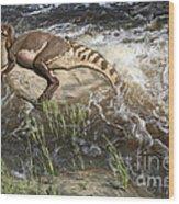 Brachylophosaurus canadensis corpse Wood Print