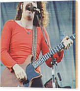 Brad Delp Of Boston-day On The Green 1 In Oakland Ca 5-6-79 1st Release Wood Print