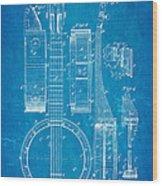 Bradbury Banjo Patent Art 1882 Blueprint Wood Print