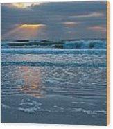 Bradenton Beach Sunset Wood Print