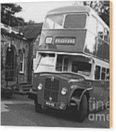 Bradford Bus In Mono  Wood Print