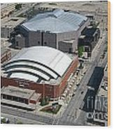 Bradley Center And Us Cellular Arena Wood Print