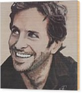 Bradley Cooper Wood Print by Shirl Theis