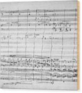 Brahms Manuscript, 1880 Wood Print