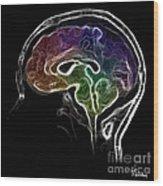 Brain And Mind Wood Print