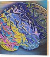 Brain Colours Wood Print by Soumya Bouchachi