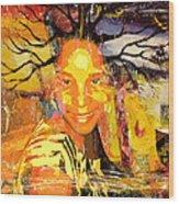 Brain Of Baobab Wood Print by Fania Simon