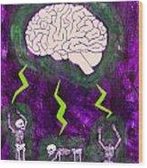 Brain Storm Wood Print