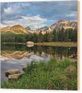 Brainard Lake Reflections Wood Print