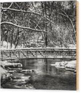 Brainards Bridge After A Snow Storm 3 Wood Print