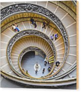 Bramante Spiral Staircase In Vatican City Wood Print