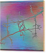 Branches In The Mist 60 Wood Print